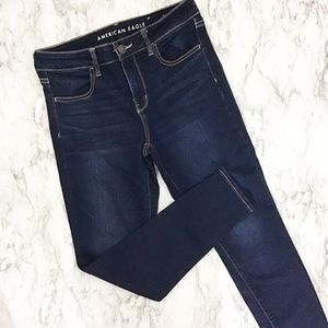 American Eagle High Rise Skinny Jegging Dark Wash